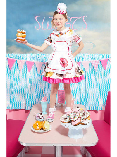 Donut Waitress Costume for Girls  pin alt1