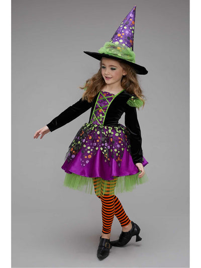 Dotty Spiderina Witch Costume for Girls