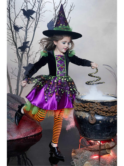 Dotty Spiderina Witch Costume for Girls  brp 1alt