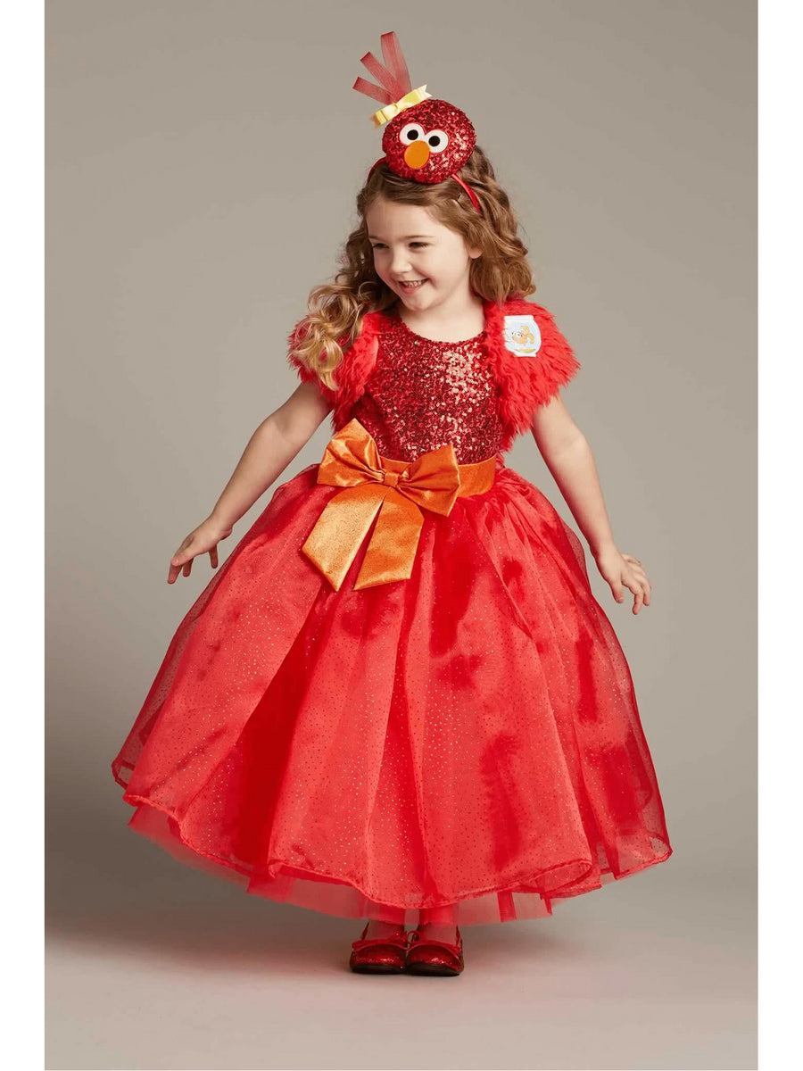 Elmo Ball Gown Costume For Girls
