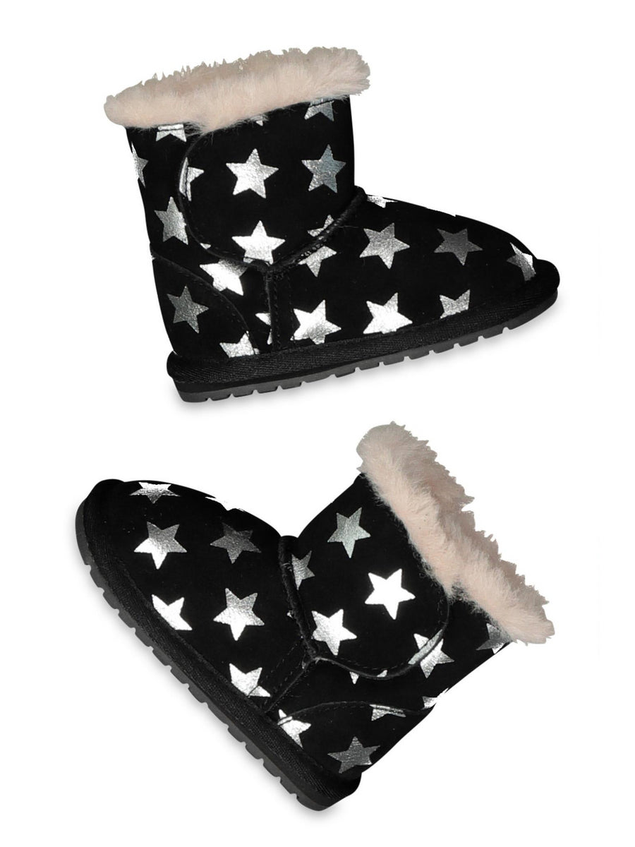 EMU Australia® Starry Night Suede Walkers for Baby