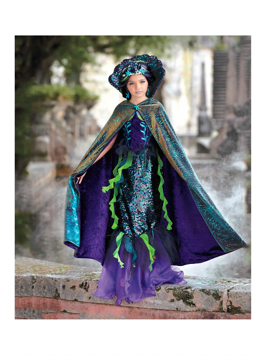 Evil Mermaid Cape For Girls