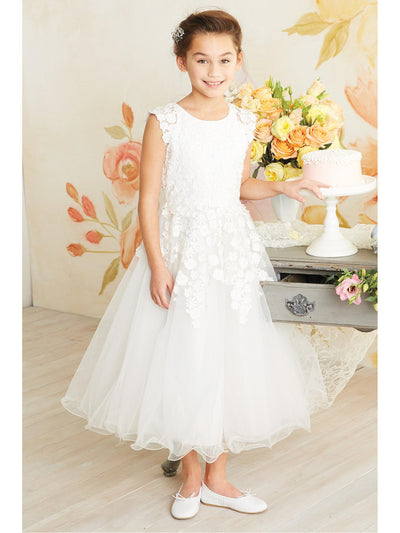 Falling Flowers Special Occasion Dress