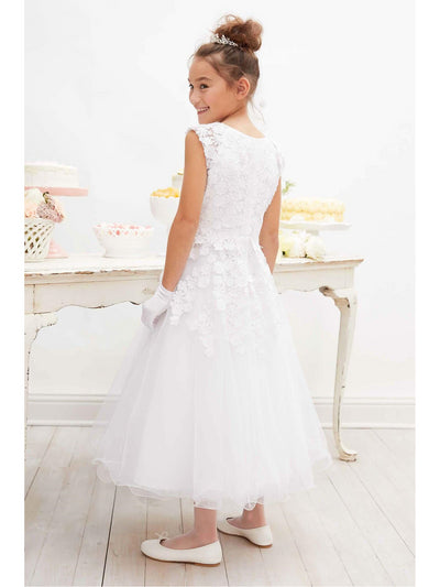 Falling Flowers Special Occasion Dress  whi alt1