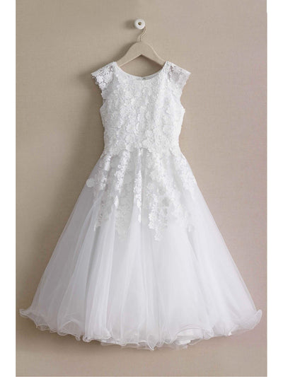 Falling Flowers Special Occasion Dress  whi alt3