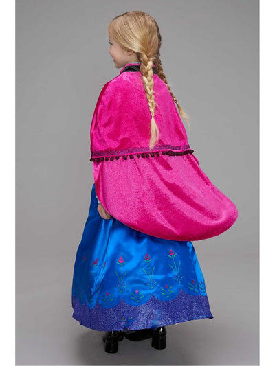 Frozen Traveling Anna Costume for Girls  blu alt1