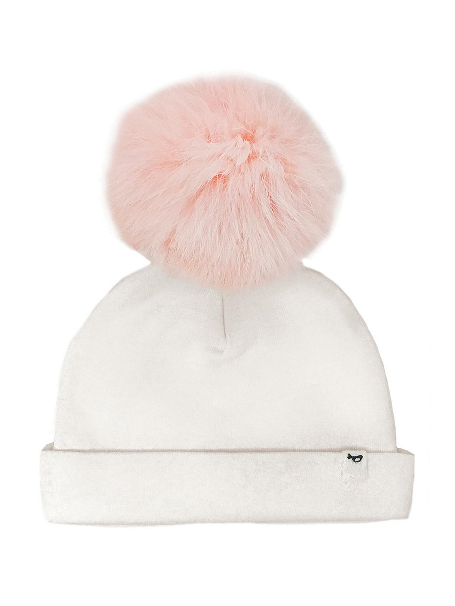 Fur Pom Pom Hat for Baby