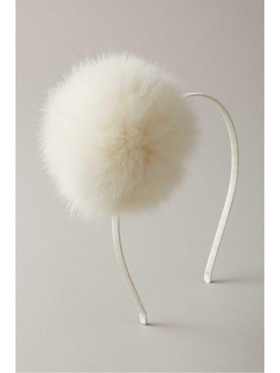 Girls Faux-Fur Pompom Headband