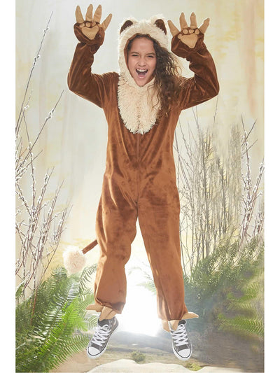 Furry Lion Costume for Kids  bro alt1