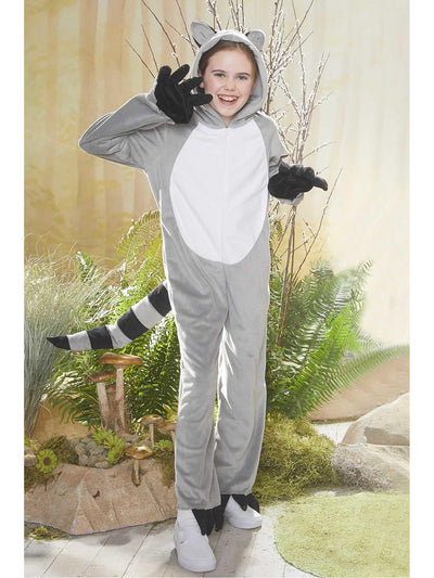 Furry Raccoon Costume for Kids  gra alt1