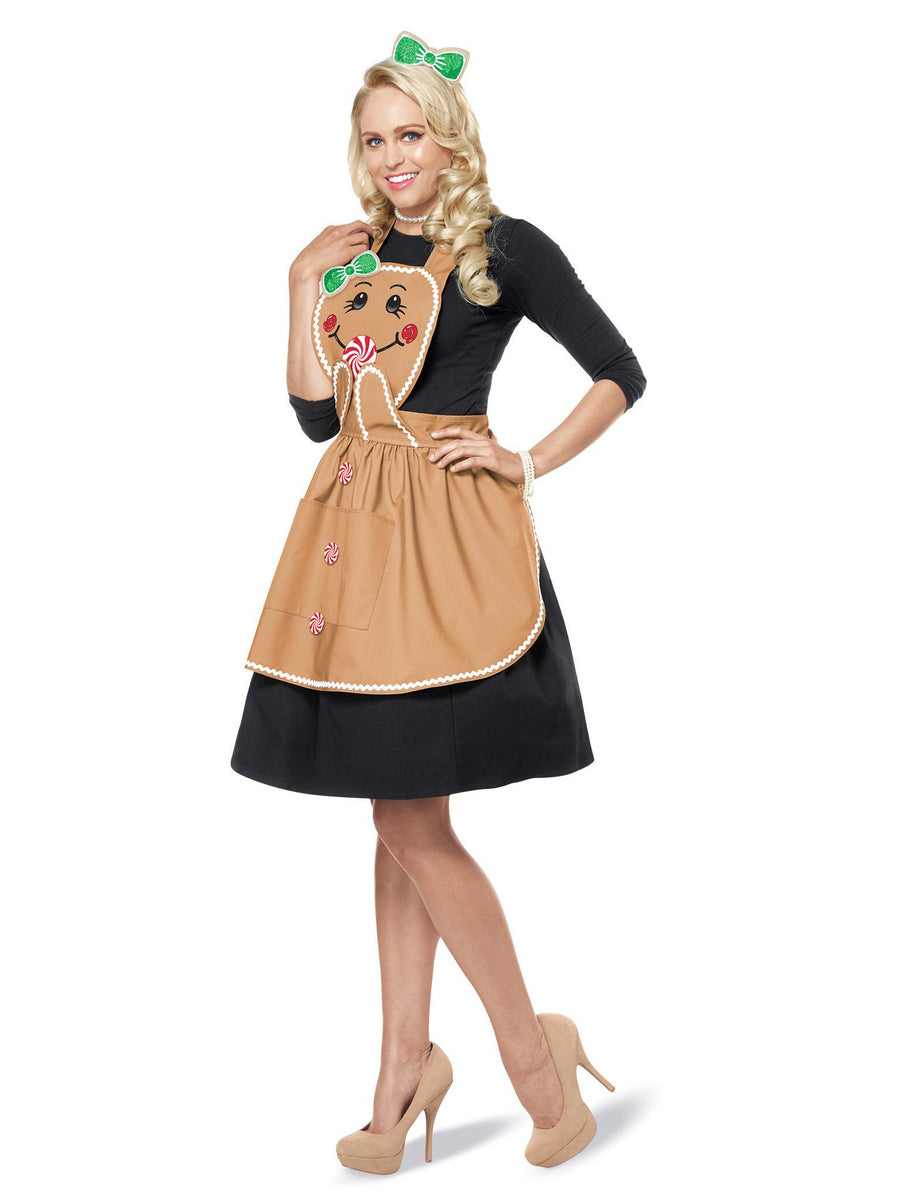 Gingerbread Apron Set Costume for Adults