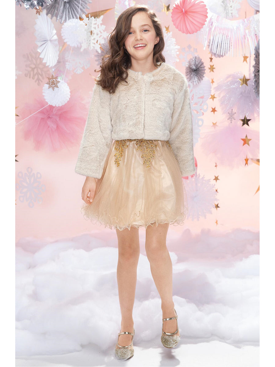 Girls Adele Faux-Fur Jacket