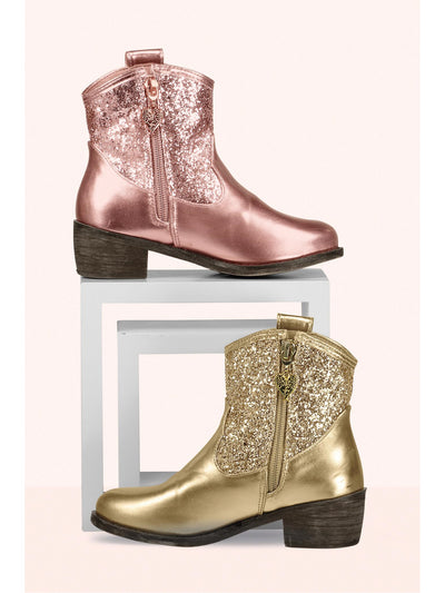 Girls All That Glitters Metallic Boots  rgd 1