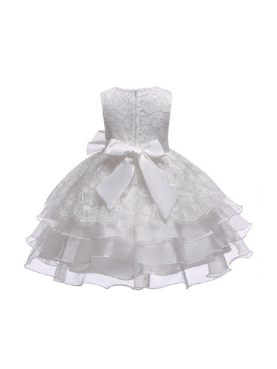 Girls Allover Lace Dress  white alt2