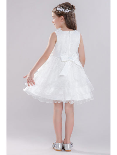 Girls Allover Lace Dress  white alt3