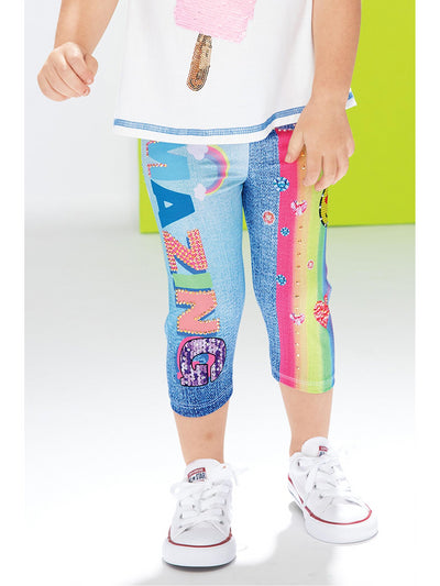 Girls Amazing Rainbow Capri Leggings
