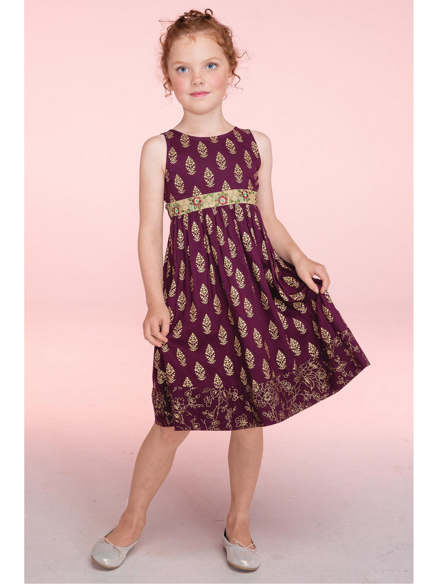 Girls April Cornell Tree of Life Dress