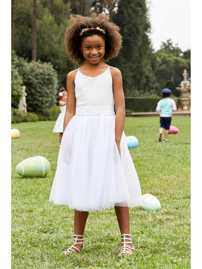 Girls Ballerina Dress  whi 1