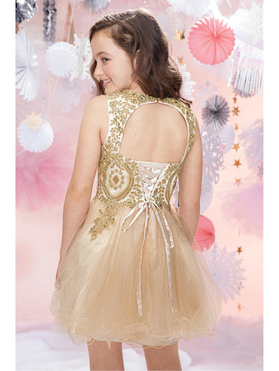 Girls Baroque Beauty Beaded Dress  chm alt1