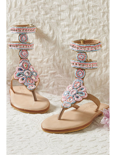 Girls Beaded Gladiator Sandals