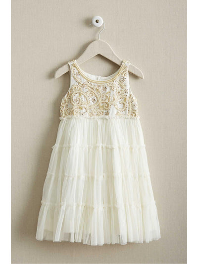 Girls Beaded Tulle Dress