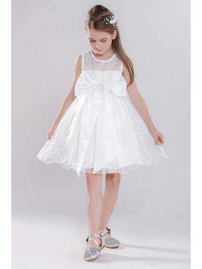 Girls Big Bow Dress