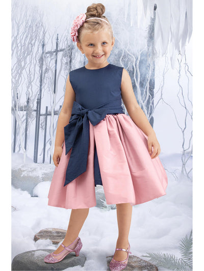 Girls Big Bow Party Dress