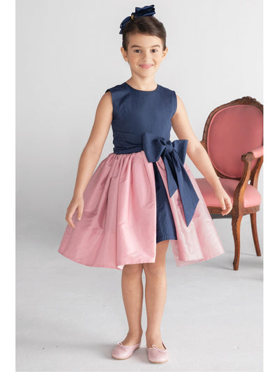 Girls Big Bow Party Dress  nvpk alt1