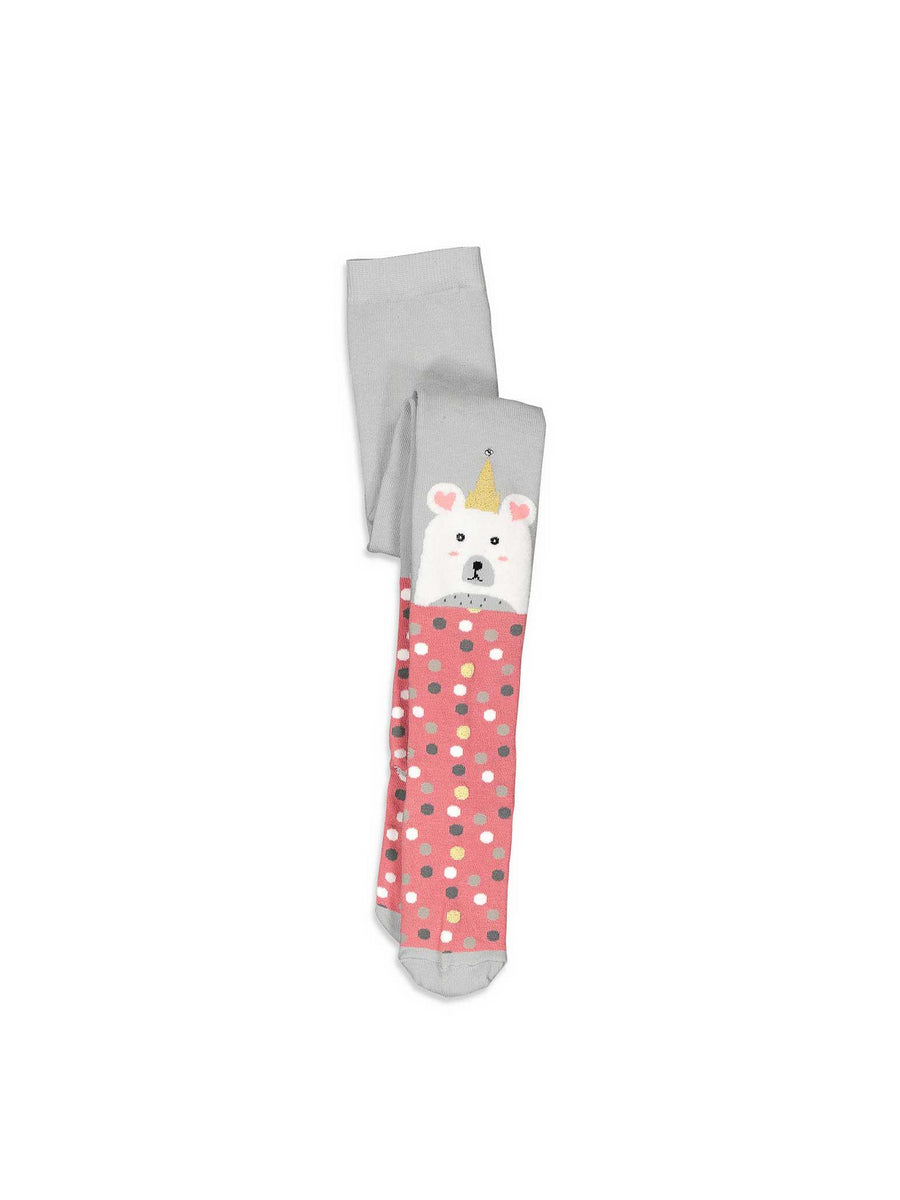 Girls Birthday Bear Tights