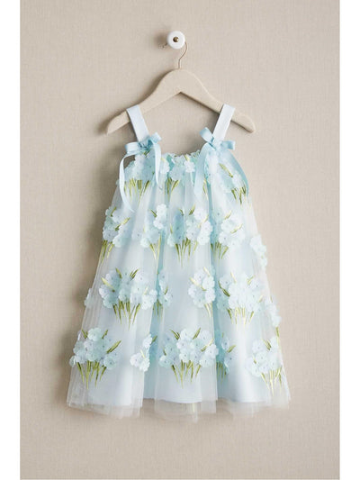 Girls Blue Blossom Dress