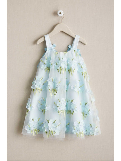 Girls Blue Blossom Dress  lbl alt2