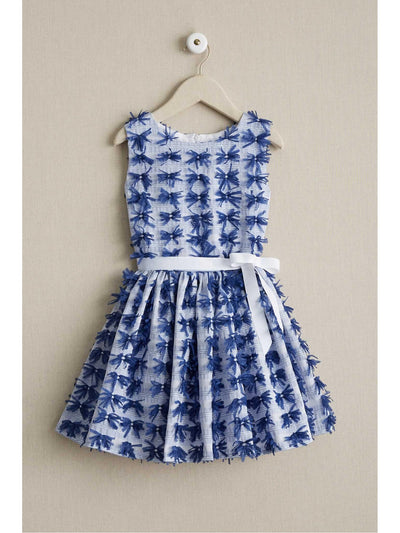 Girls Blue Bows Dress