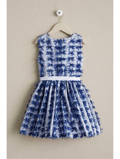 Girls Blue Bows Dress  blu alt2