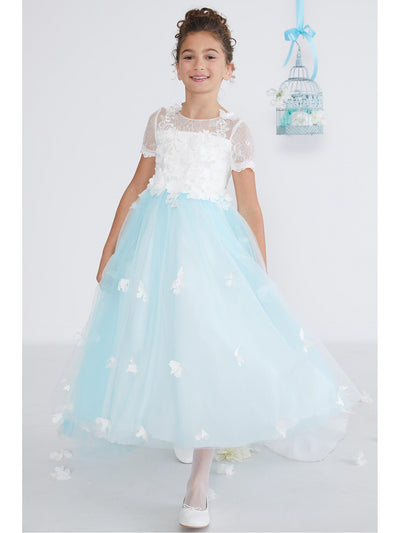 Girls Blue Sky Butterfly Dress  wbl alt2