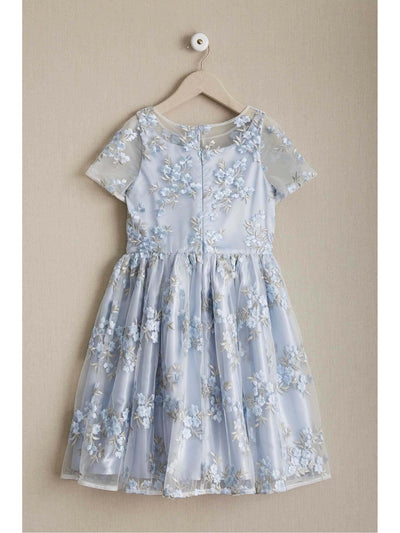 Girls Blue Tea Garden Dress  lbl alt2