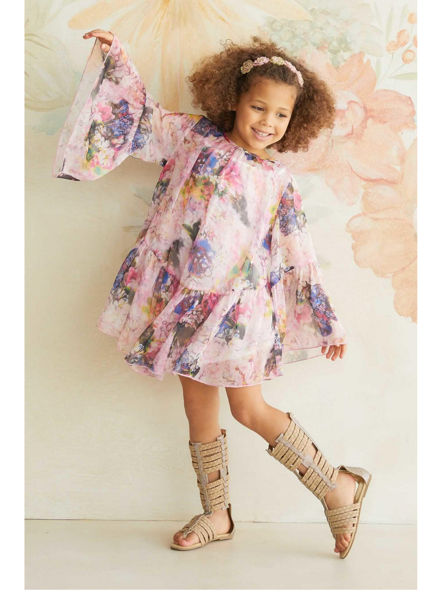 Girls Bohemian Chiffon Dress