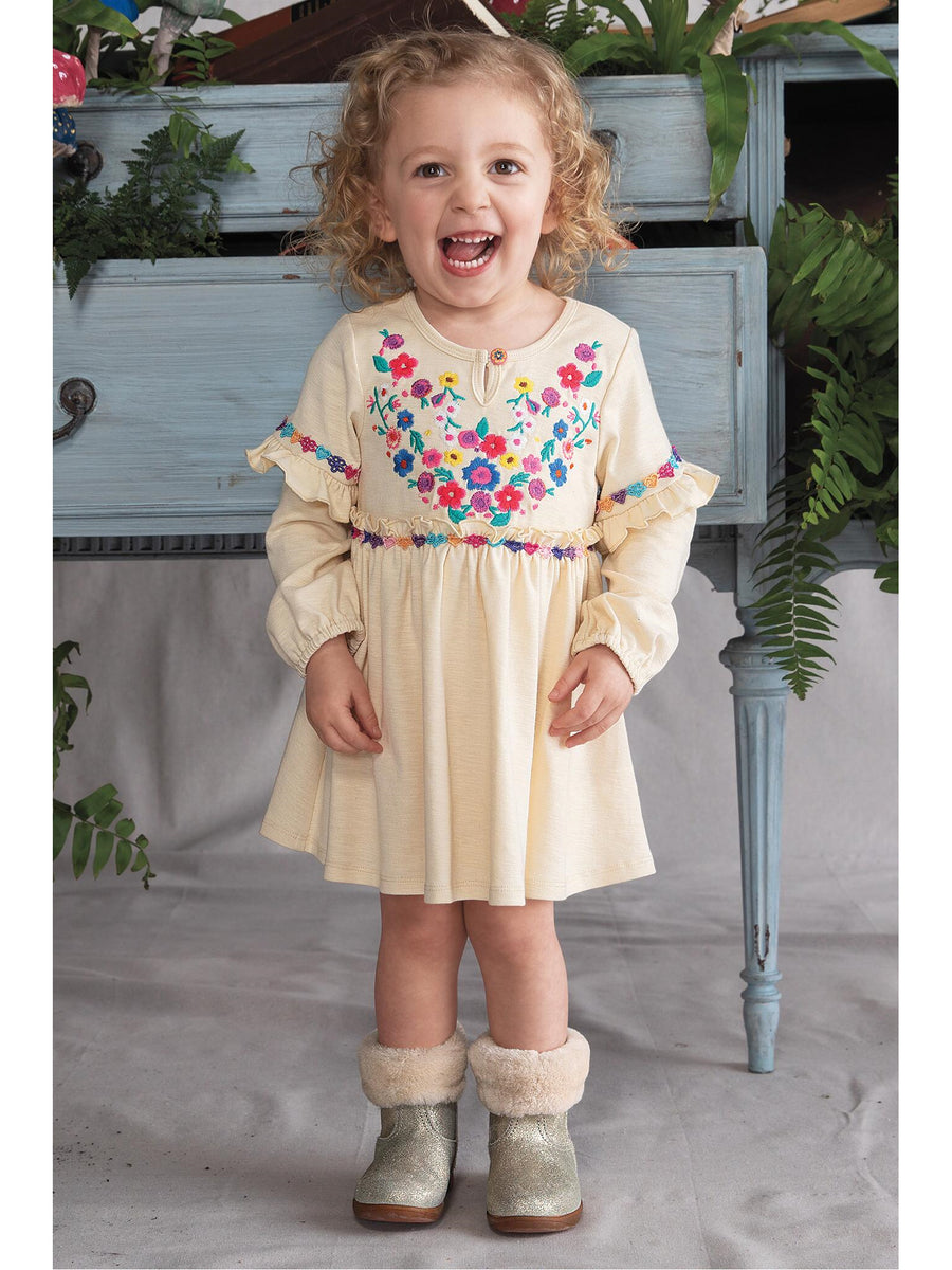 Girls Bohemian Embroidered Dress