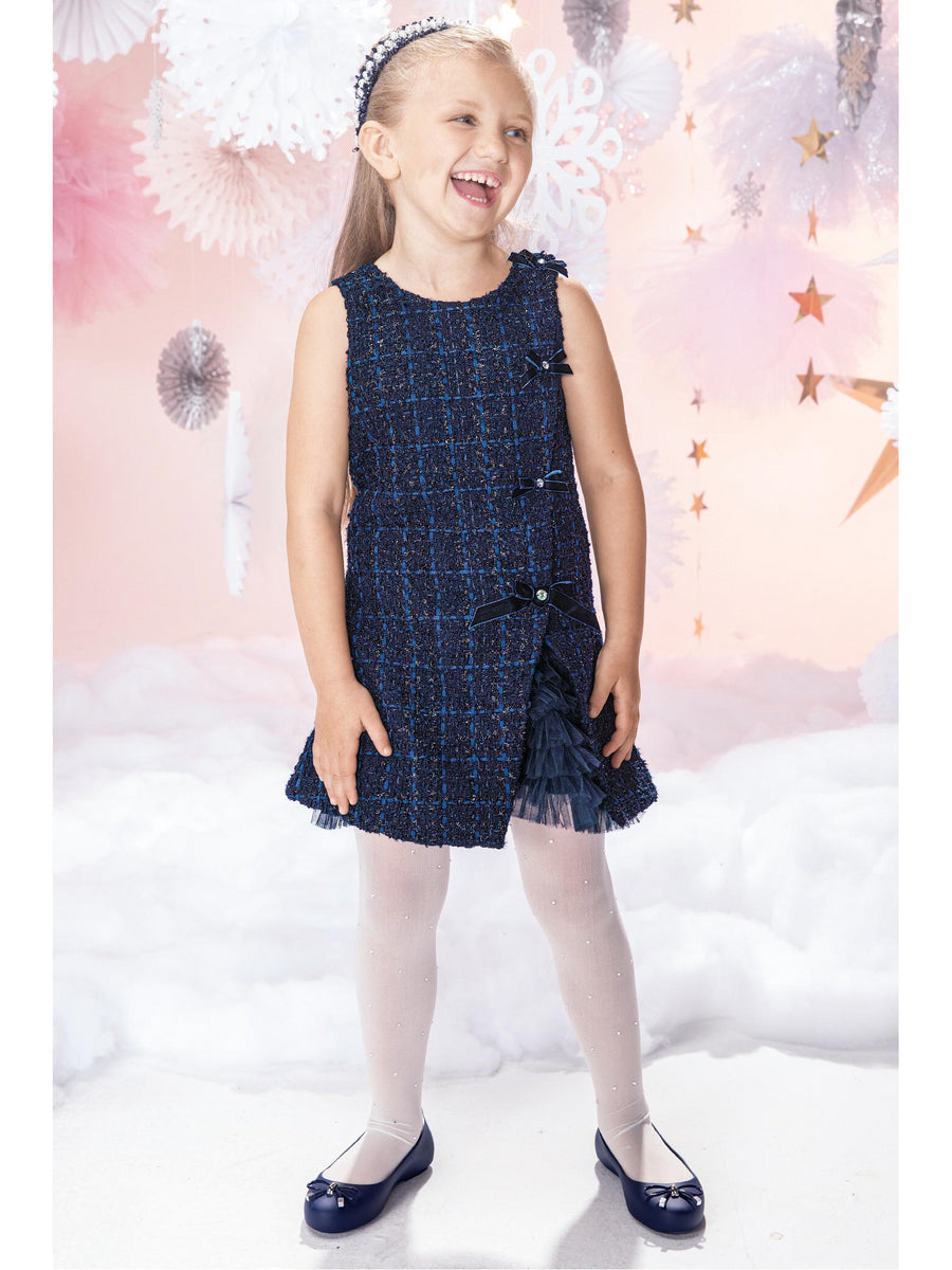 Girls Bouclé Jacket & Dress