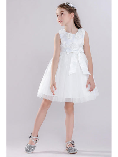 Girls Bow & Flowers Dress