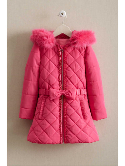 Girls Bow Puffer Coat