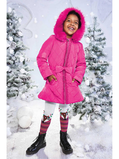 Girls Bow Puffer Coat  hpi alt1