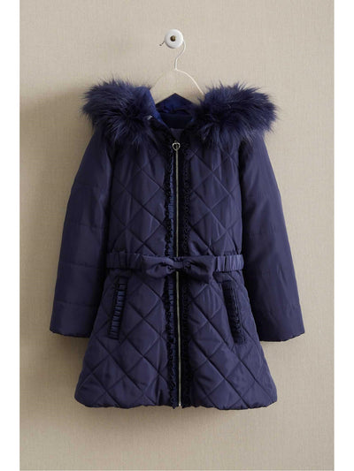 Girls Bow Puffer Coat  nav 1