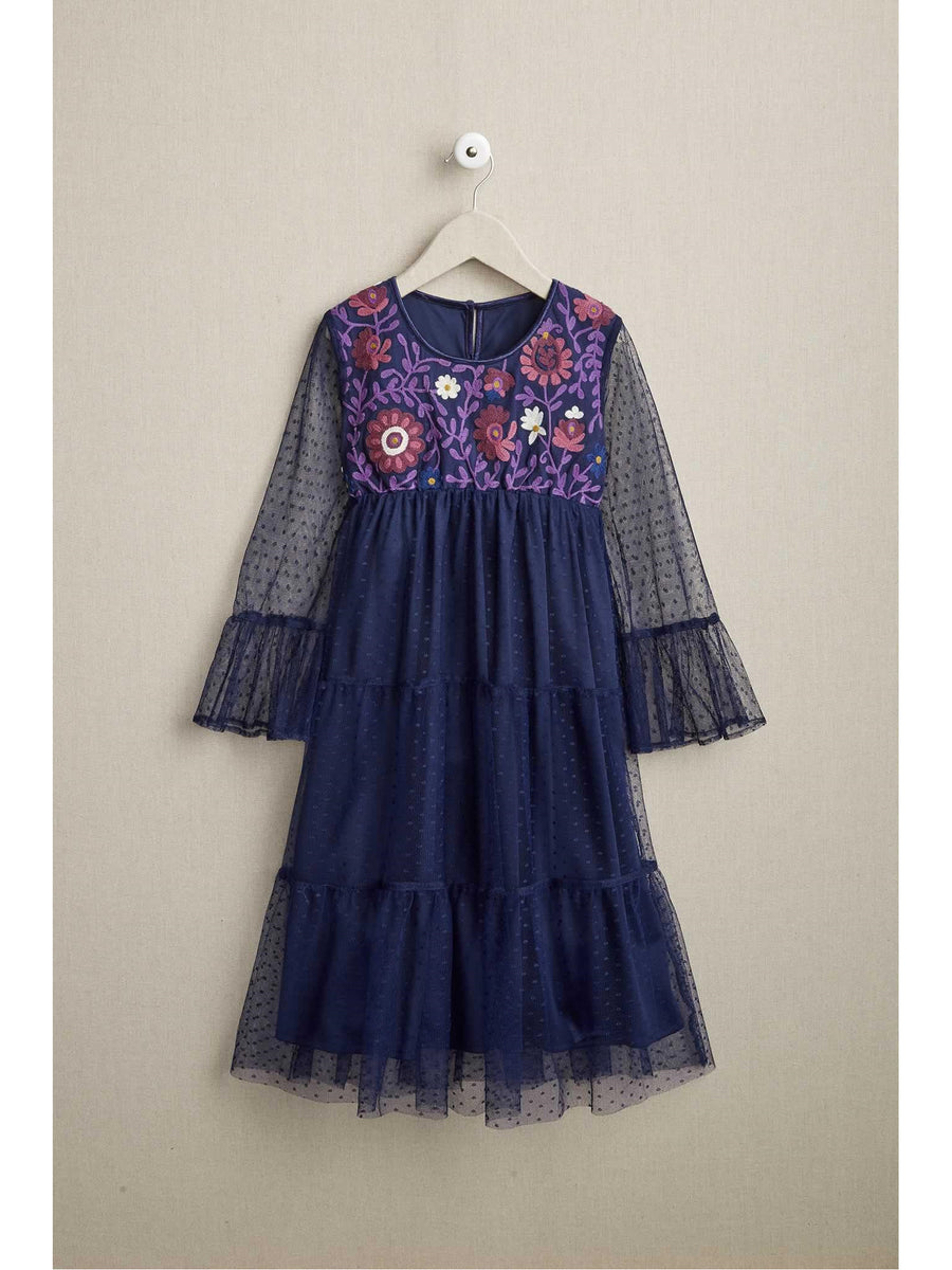 Girls Bright Floral Boho Dress