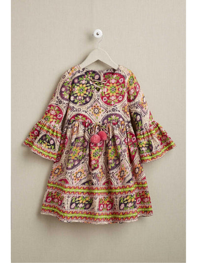 Girls Bright Medallion Dress