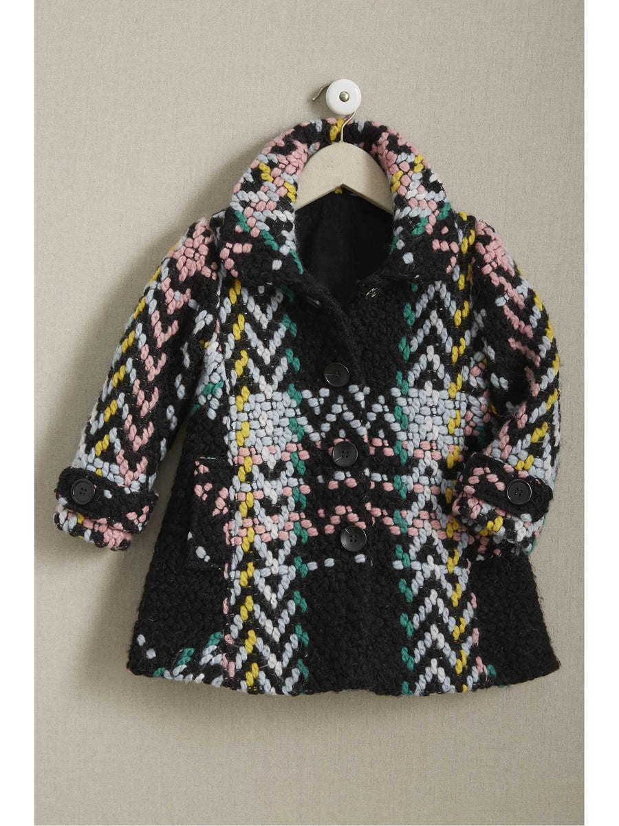 Girls Bright Woven Coat