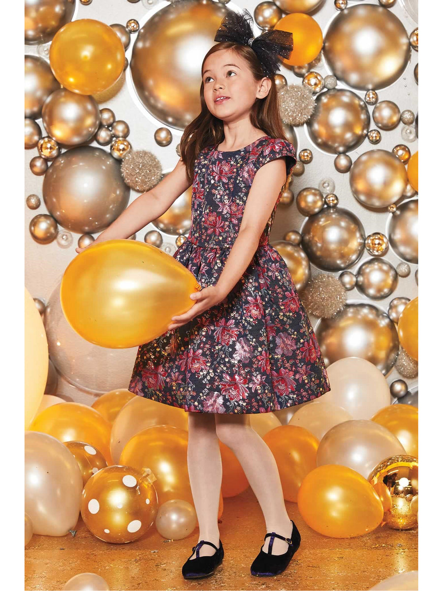 Girls Brocade Garden Dress