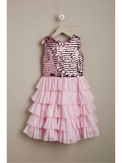 Girls Bubbly Pink Dress