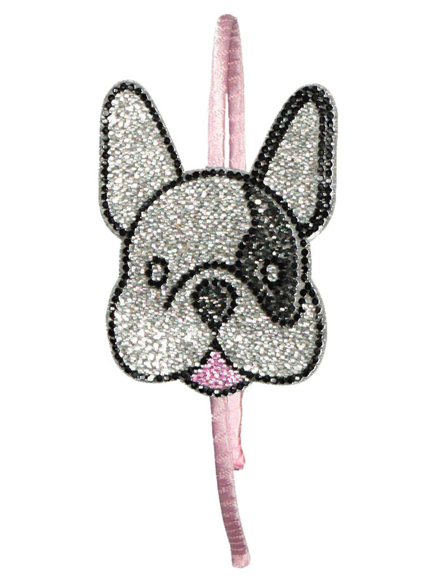 Girls Bulldog Crystal Headband