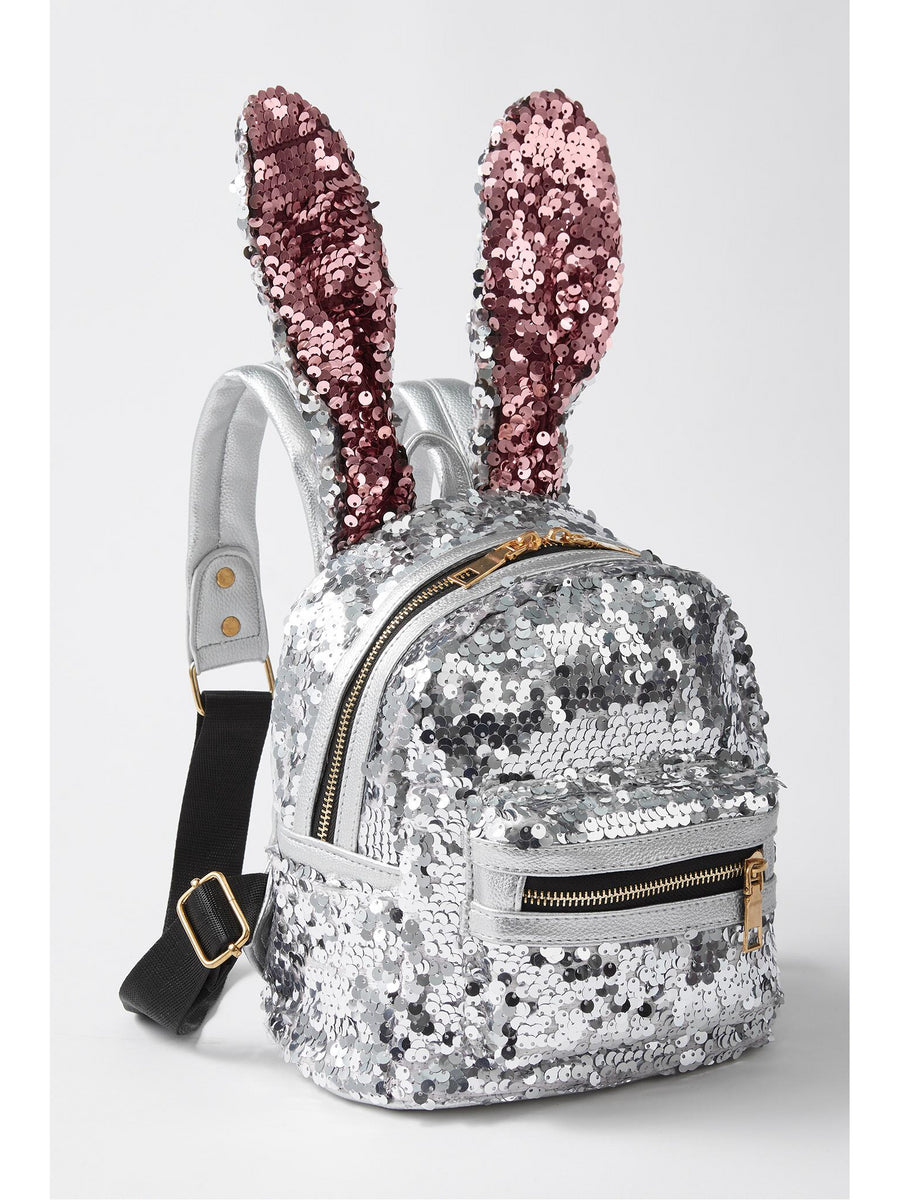 Girls Bunny Ears Sequin Mini Backpack