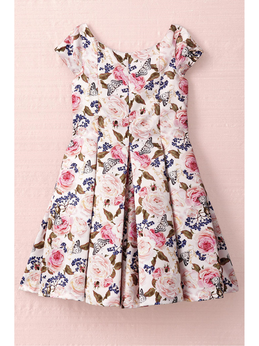 Girls Butterflies Among the Blooms Dress